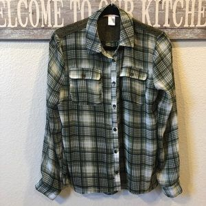 Band of Gypsies Sheer Plaid Blouse. Size Small.
